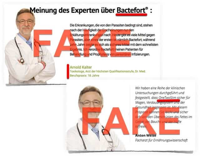 Fake Bewertungen Bactefort