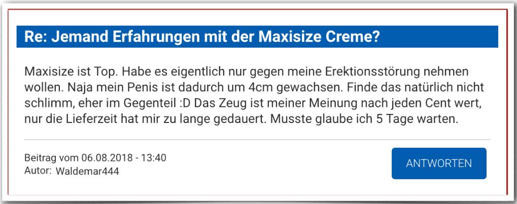 Maxisize Erfahrung