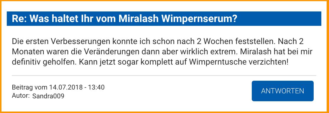 Miralash Erfahrungen kaufen test Wimpernserum Bewertung
