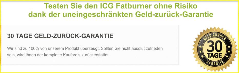 ICG Fatburner 30 Tage Geld zurück