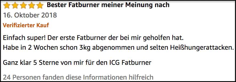 ICG Fatburner Erfahrung Erfahrungsbericht
