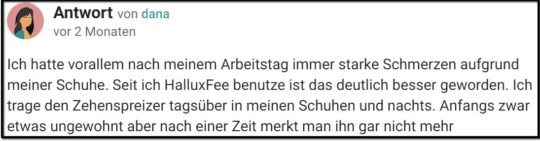 Erfahrungsbericht Hallux Valgus Schiene Gutefrage.net
