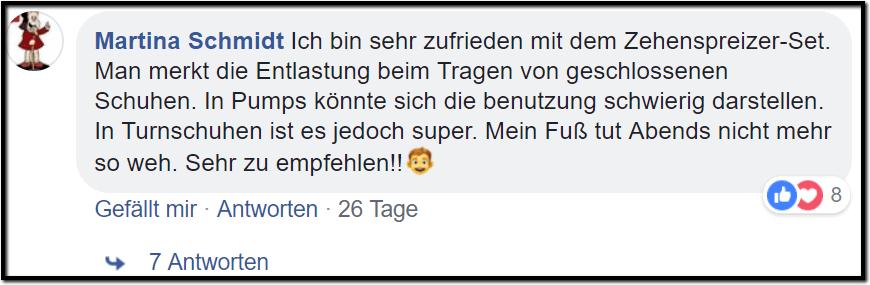 Hallux Valgus Schiene Facebook Erfahrungsbericht