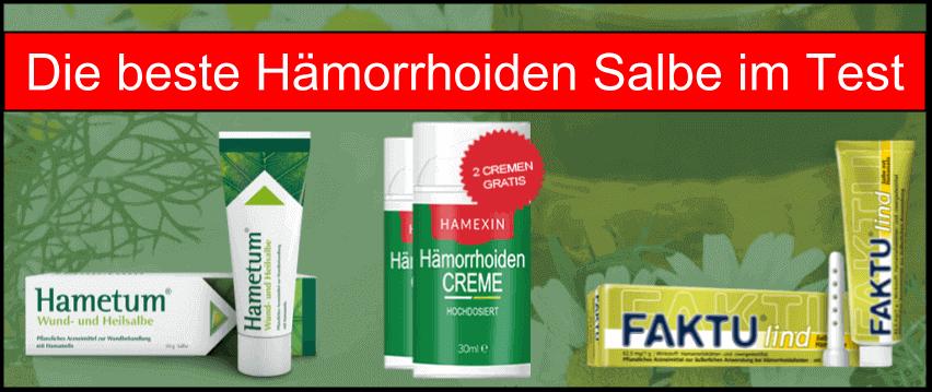 Hämorrhoiden Salbe im Test und Vergleich Creme kaufen