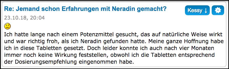 Neradin Forum Erfahrungen Test