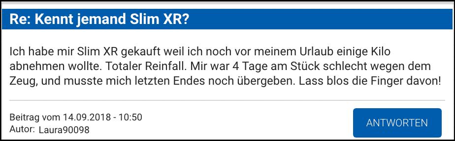 Slim XR Erfahrungsbericht erfahrungen fake