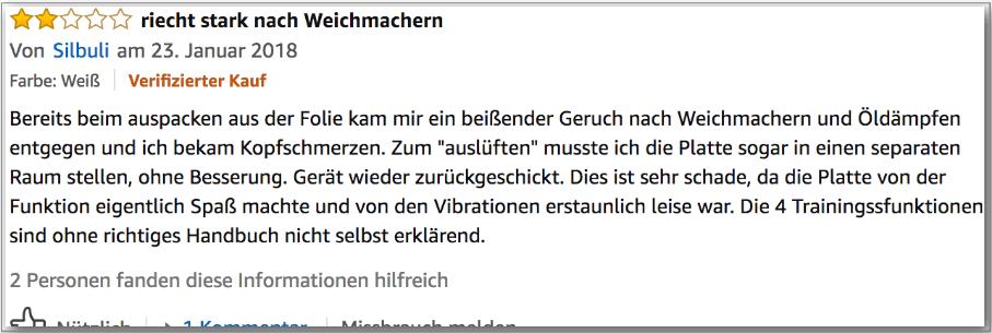 Vibrationsplatte Erfahrungsbericht Testbericht