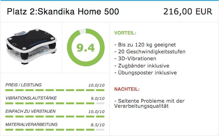 Vibrationsplatte Platz 2 Vibrationsplatte Skandika home 500