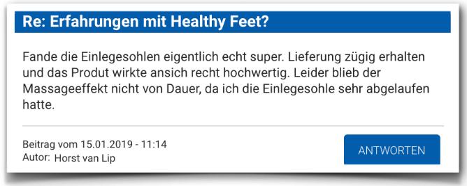 Healthy Feet Erfahrungsbericht