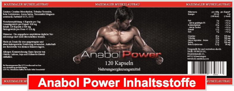 Anabol Power Inhaltsstoffe