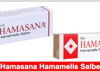 Hamasana Hamamelis Hämorrhoiden Salbe Titelbild