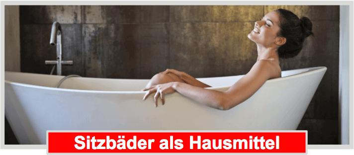Sitzbad als Hämorrhoiden Hausmittel