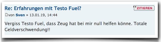 Testo Fuel Erfahrungen