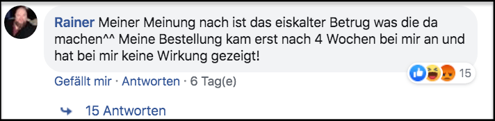 Erfahrungsbericht aus Facebook