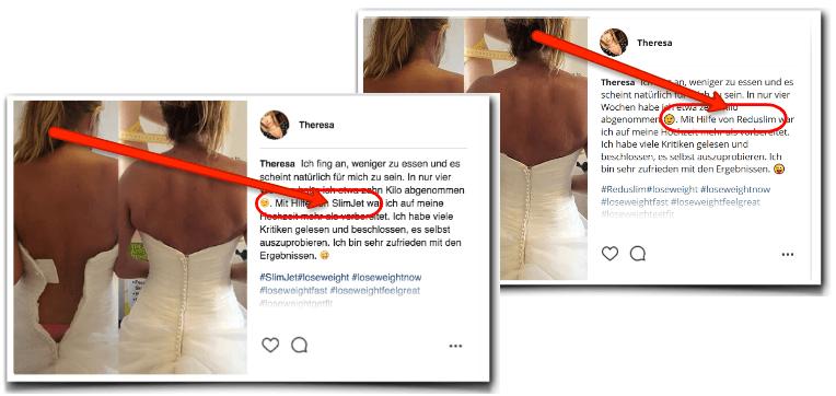 Beweis für die Fake-Bilder