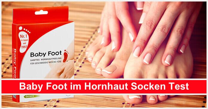 Hornhaut Socken Test Babyfoot