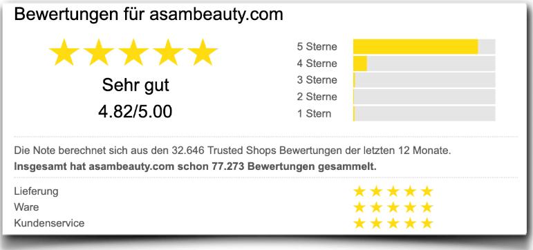 Asambeauty Erfahrungsberichte Bewertung Kritik Asambeauty