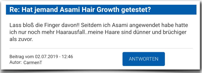 Asami Hair Growth Erfahrungen Erfahrung Erfahrungsbericht