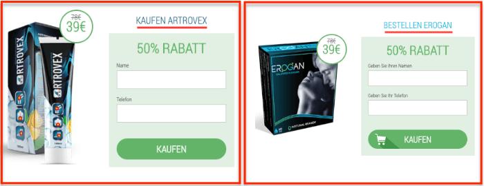 Erogan und Artrovex identisch