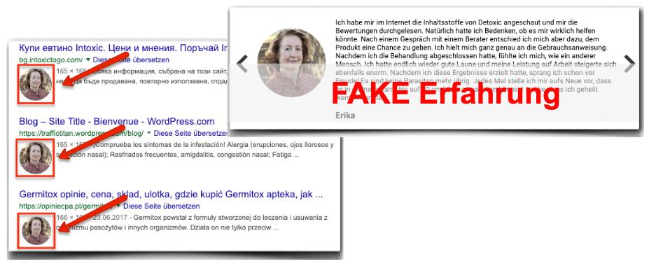Detoxic Fake-Erfahrung