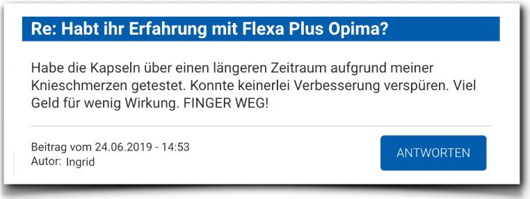 Flexa Plus Optima Erfahrung Bewertung Kritik
