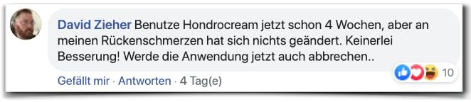 Hondrocream Erfahrungsbericht Bewertung Facebook Hondrocream