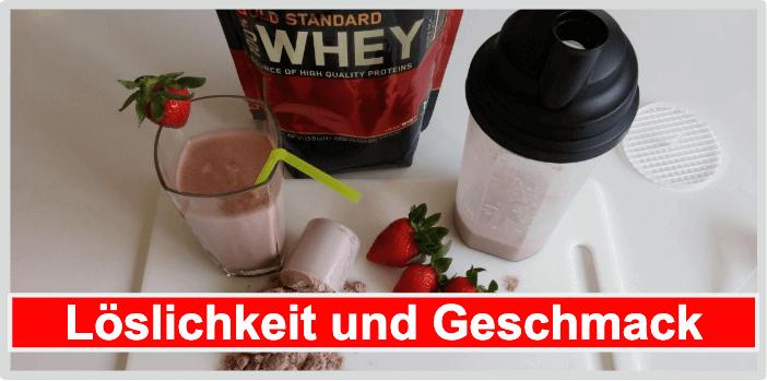 Löslichkeit und Geschmack von Proteinpulver