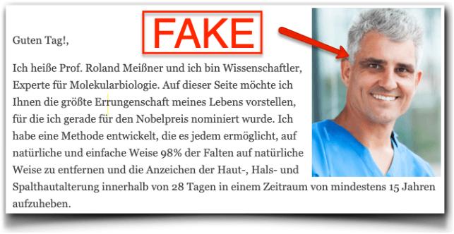 Perle Bleue Fake Arztbericht Professor