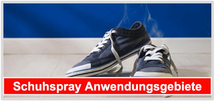Schuhspray Anwendungsgebiete