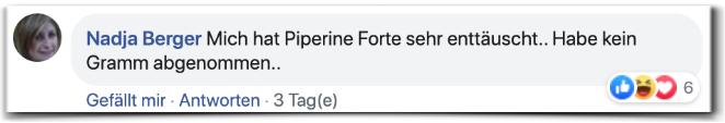 Piperine Forte Bewertungen Erfahrungen facebook