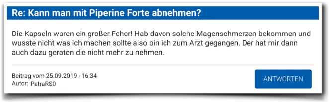 Piperine Forte Erfahrungsberichte Kritik Piperine Forte
