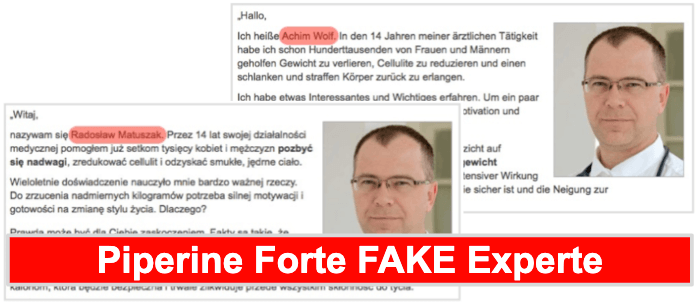 Piperine Forte Experte Fake Expertenmeinung