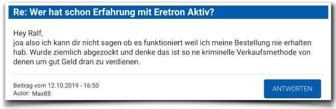 Eretron Aktiv Kritik Erfahrungen Eretron Aktiv