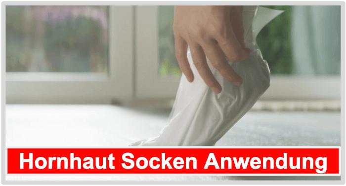 Hornhaut Socken Anwendung