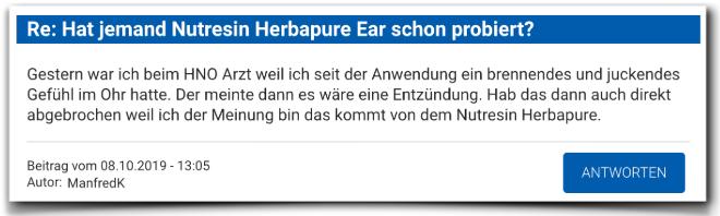 Nutresin Herbapure Ear Bewertungen Erfahrungen Nutresin Herbapure Ear