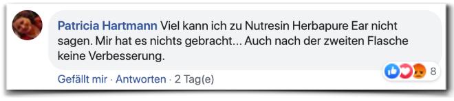 Nutresin Herbapure Ear Kritik Bewertung facebook