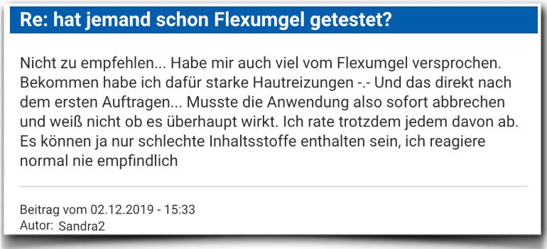 Flexumgel Erfahrungsbericht Bewertung Kritik Flexumgel