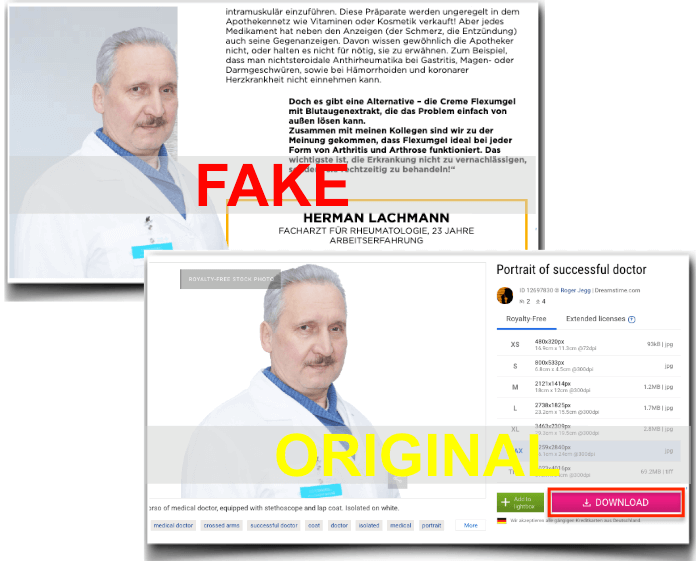 Flexumgel Fake Arzt