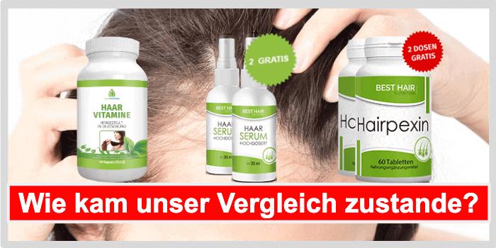 Mittel gegen Haarausfall Vergleich