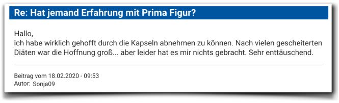 Prima Figur Kritik Erfahrungsberichte Prima Figur