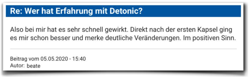 Detonic Erfahrungsberichte Bewertung Detonic