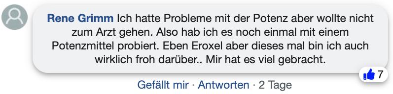 Eroxel Bewertungen Erfahrung Facebook