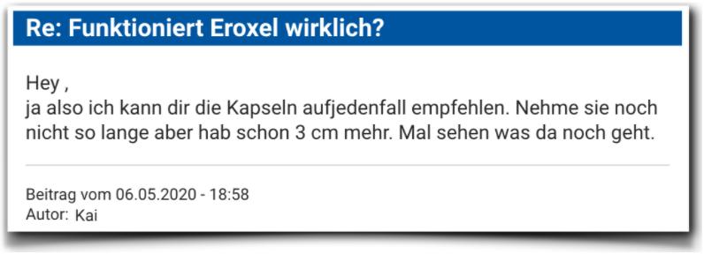 Eroxel Erfahrungsberichte Bewertung Eroxel
