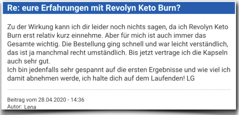 Revolyn Keto Burn Erfahrungsbericht Bewertung Kritik Revolyn Keto Burn