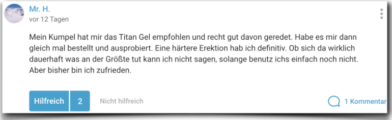 Titan Gel Erfahrun Erfahrungen Erfahrungsbericht gutefrage.net