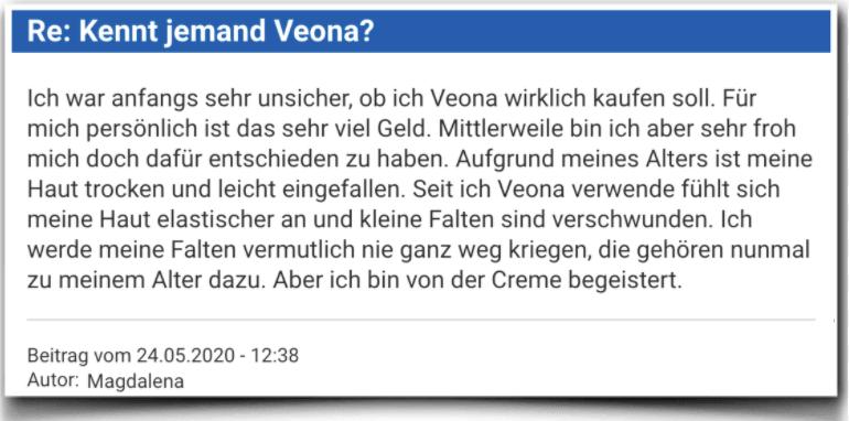 Veona Erfahrungsbericht Bewertung Kritik Veona Skincare