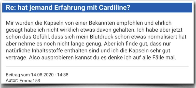 Cardiline Erfahrungsbericht Bewertung Kritik Cardiline