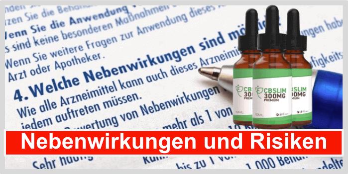 CB Slim 300 Nebenwirkungen Risiken Unverträglichkeiten