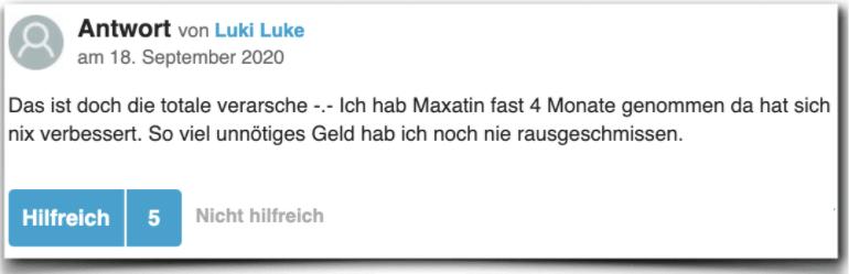 Maxatin Erfahrung Erfahrungen Erfahrungsbericht