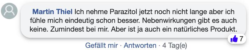 Parazitol Erfahrungen Bewertungen facebook
